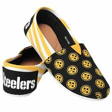 Pittsburgh Steelers Women s Canvas Stripe Shoes L 2ab9b626d