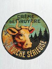 Tôle peinte 1920 La Vache Sérieuse,no plaque émaillée Enamel plate Vache Qui Rit