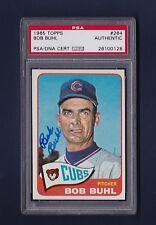 Bob Buhl signed Chicago Cubs 1965 Topps baseball card Psa authenticated