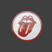 Mosaic Wall Decoration Rock And Roll Lips Stones Man Cave Bar Wall Hanging Gift