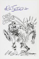 1941 circa Allen Bellman Captain America Red Skull Signed 11x17 Print (Jsa)