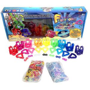 Loom Party Pack Rainbow Finger New Rubber Band Bracelet Kids Band Maker Kit Toy