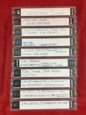 VINTAGE 10 LOT AUDIO CASSETTE TAPES, MAXELL UD XL II 90 - 1980s Rock RUSH ZZ TOP