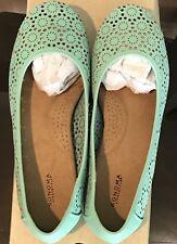 Sonoma Women's Comfortable Flats Size 6 MIB NEVER WORN Mint / Teal / Green