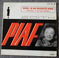 Edith Piaf, non, je ne regrette rien,  EP - 45 tours