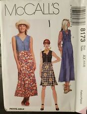 McCall's pattern 8173 Misses'/Petite high waisted Dress or Jumper sz 4,6,8 uncut
