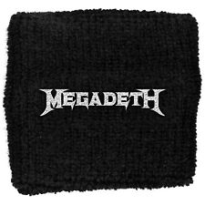 More details for megadeth logo 2020 embroidered sweatband wristband armband official merchandise
