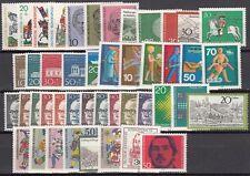GERMANIA FEDERALE  ANNO 1970 COMPLETO 45 VALORI   NUOVI ** MNH TOP QUALITA'