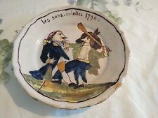 Assiette Ancienne Faïence Les Sans Culottes 1790