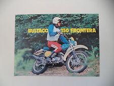 advertising Pubblicità 1977 MOTO BULTACO FRONTERA 250