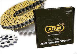 Kit chaine transmission AFAM pour KAWASAKI KDX 125 1990-1999