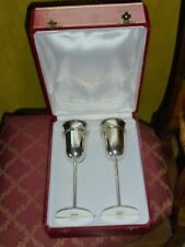Cartier Trinity Silbersektflöten mit Originalbox unbenützt 925er