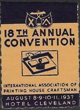 USA Poster: 18th Annual Convention of Printing House Craftsmen, 1937 - dw613
