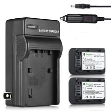 2pcs Batteries + Battery Charger NP-FH50 For Sony Alpha A390 A380 A330 A290 A230