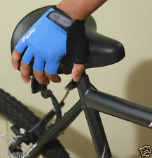 1pair Giant Cycling Bicycle MTB Half Finger Antiskid Silicone Gel Gloves Blue M