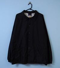 Vintage Coach Jacket In Black Retro Bomber Windbreaker XL X-Large
