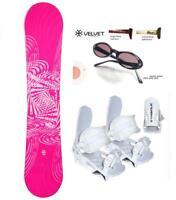 140 SLQ Why Pink Rocker Snowboard+White Bindings+Shades+burton Dcal Package az10