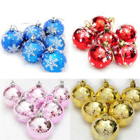 6X Christmas Tree Decorations Xmas Balls Baubles Party Wedding Home Ornament EB