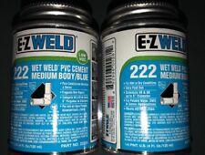 E-Z Weld Wet Weld Pvc Cement Medium Body Blue 4 oz 222
