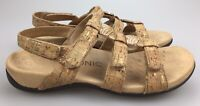 Vionic 'Amber' Cork 3 Strap Strappy Slingback Open Toe Sandals Women's 7 38