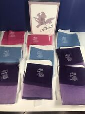 Vintage Albert's Barefoot 9 pairs Thigh High Stockings Size 10 1/2 Pink Blue