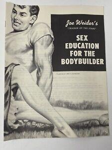 Vintage 1958 Joe Weider Bodybuilding Booklet Sex Education For The Bodybuilder