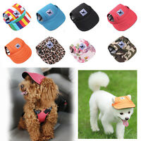 Tail Up Pet Dog Hat Baseball Cap Windproof Travel Sports Sun Hats for Puppy