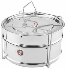 Embassy Cooker Separator Set 2 Containers Suitable for 7.5 L Prestige Outer Lid