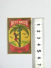 Ancienne Etiquette Boite d'Allumette JAPON  Old JAPAN  Matchbox Label Matches