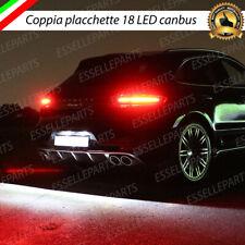 PLACCHETTE A LED LUCI TARGA 18 LED SPECIFICHE PORSCHE MACAN 6000K NO ERROR