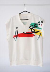 Adidas Stefan Edberg Vintage Retro 80's Tennis Pullover Vest Shirt Rare d46 XS S