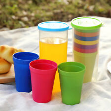 7Pcs Kids Mug Colorful Cups Water Battle Set Of 8 Reusable Unbreakable Portable