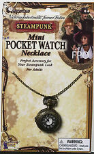 Steampunk Mini Pocket Watch Necklace Industrial Victorian Costume Accessory