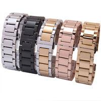 18/20/22/24MM Edelstahl Solid Uhren Armband Watch Band Strap 5 Farben Gift 2018