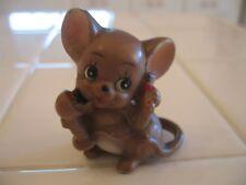 Adorable Vintage Josef Original Mouse Talking On The Phone Figurine