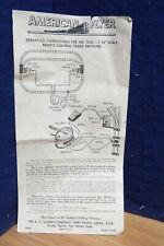 AMERICAN FLYER S 720A TRACK INSTRUCTIONS 578939