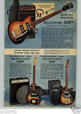 1972 PAPER AD Guitar Kay Amp Bass Light Mini Strobe Sound Activated Love Lamp