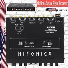 Hifonics Hfeq 4-Band Eq 9V 1/2 Din Line-Driver Multiple Source Signal Processor