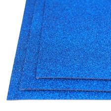 Self-Adhesive Glitter EVA Foam Sheet, 8-Inch x 12-Inch, 3-Piece, Royal Blue