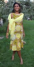 African Yellow Dress