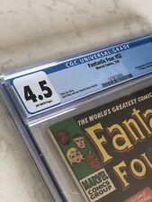 FANTASTIC FOUR #52 CGC 4.5 VG+ 1ST BLACK PANTHER 1966 HUGE KEY BOOK