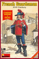 Miniart 16011 - 1/16 Historical Figure French Guardsman XVII Century model kit