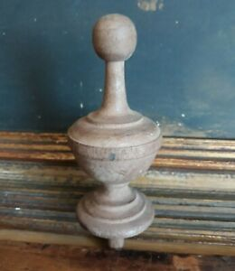 Furniture French Style Turned Wood Finial New Old Stock Unfinished
