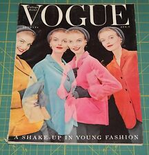 August Vogue 1953 Rare Vintage Vanity Fair Fashion Design Collection Magazine