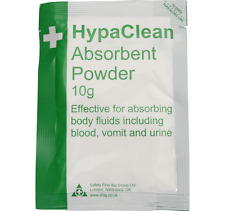 FLUIDO Corpo Polvere assorbente (10gm) con Deodoriser x 2-Sangue Vomito Urine