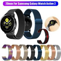 Magnetic Milanese Loop Wristwatch Band Strap For Samsung Galaxy Watch Active 2