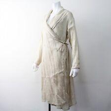VLAS BLOMME DRESS SIZE F HEMP/SILK BEIGE MADE IN JAPAN PIP SQUEAK CHAPEAU