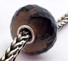 Authentic Trollbeads Faceted Smoky Quartz Bead Charm 51803, New
