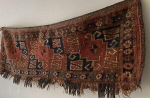Antique Tribal Nomadic Wall Hanging Rug