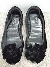 GIAMBATTISTA VALLI black velvet ballet flats shoes Italian size 36.5 WORN TWICE